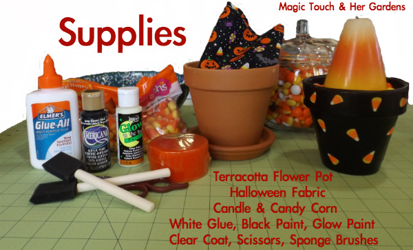 DIY Halloween Candle Holder Supply List