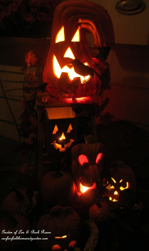 Barb's Pile of Pumkins in the Dark