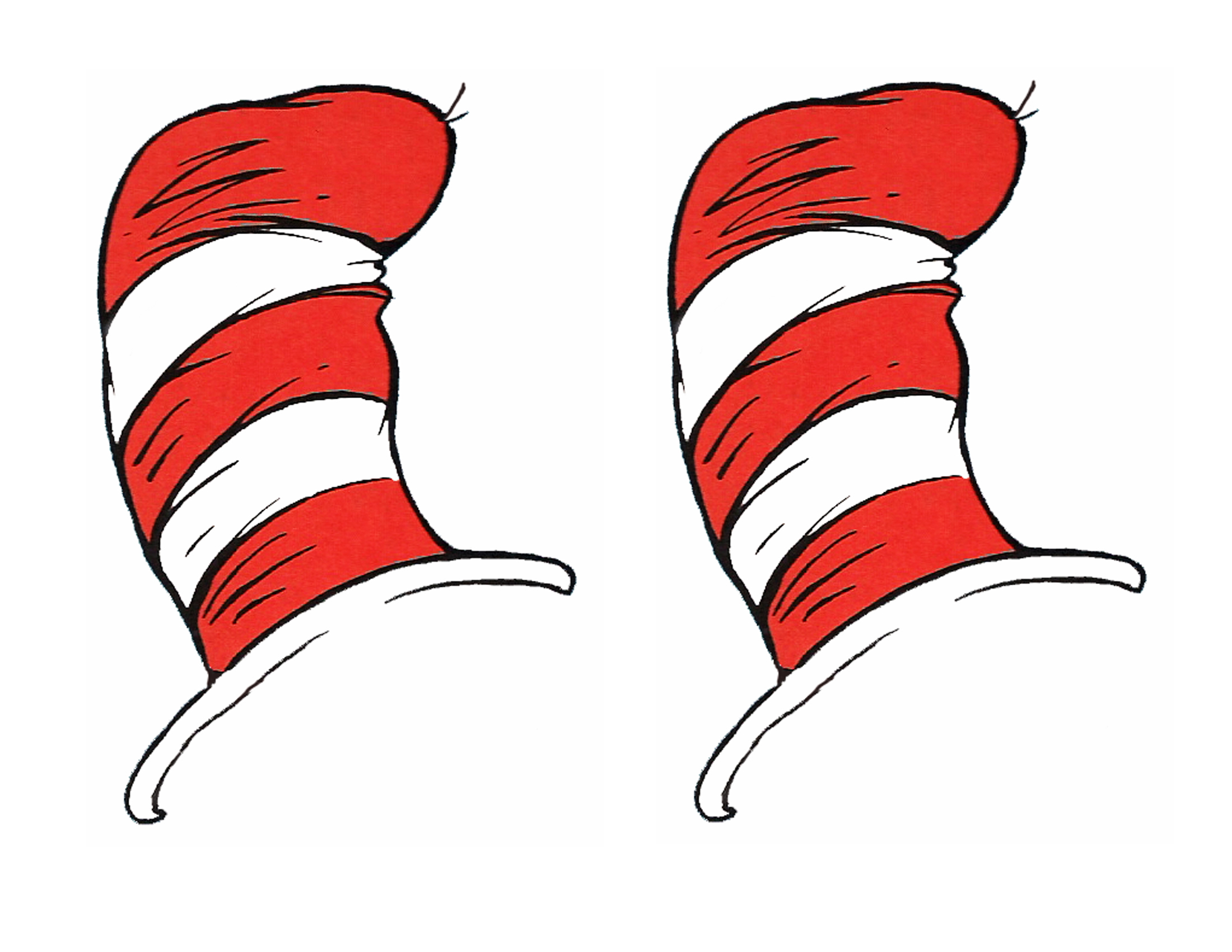 Sweet image throughout dr seuss hat template printable