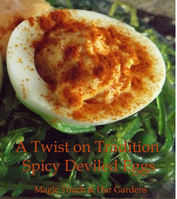 A Twist on Tradition, Spicy Deviled Eggs  click for recipe...You won't believe how easy it is...