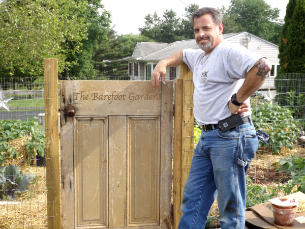 Turning an old door into a DIY Garden Gate at The Barefoot Garden