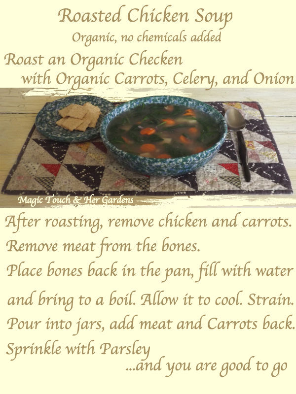 Roasted Chicken Soup Magic Touch & Her Gardens
