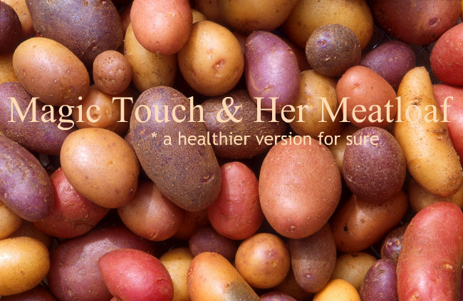 Magic Touch & Her Meatloaf, a healthier version for sure. Roasted Meatloaf w/ roasted potatoes, carrots, and onion